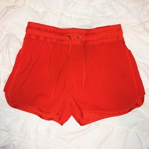 Pants - Red casual shorts
